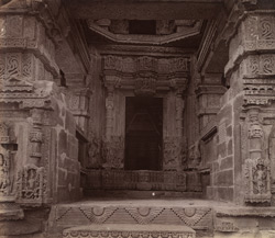 Close view of entrance and part of interior of Great Sasbahu Temple, Gwalior 10031447